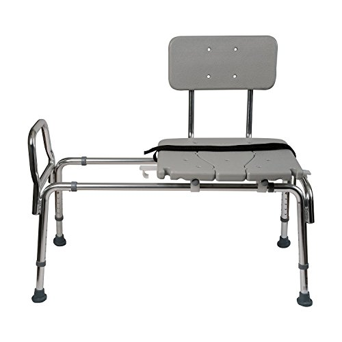 Sliding Shower Chair Transfer Bench U2013 Heavy Duty Sliding Bathtub Seat With  Back For Elderly Seniors U0026 Disabled U2013 Adjustable Bench Seat Height 19u2033 To  23u2033 ...