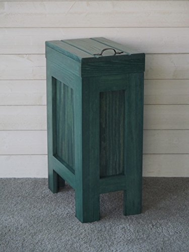 Rustic Wood Wooden Trash Bin Kitchen Garbage Can 13 Gallon Recycle