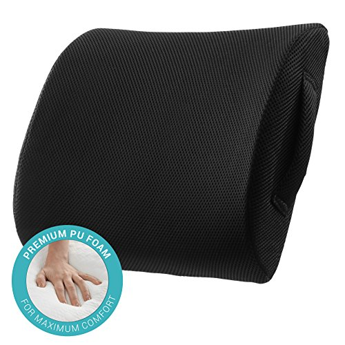 comfysure lumbar support seat back cushion memory foam with