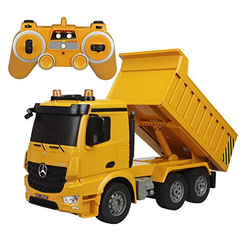 Fisca Rc Dump Truck Authorized By Mercedes Benz Arocs Remote Control