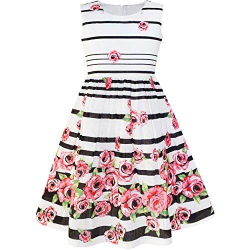 Sunny fashion lp33 girls dress black striped pink flower size 7 8 sunny fashion lp33 girls dress black striped pink flower size 7 8 mightylinksfo