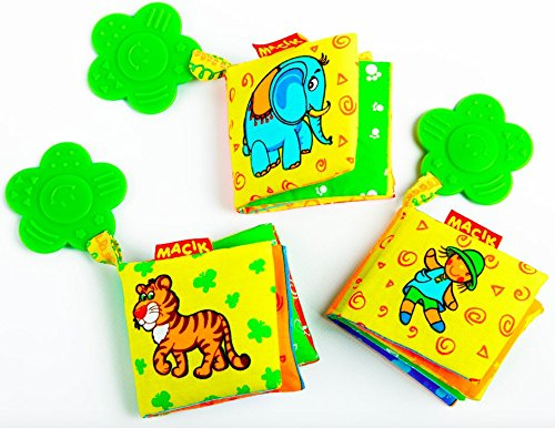 baby activity book and teething toys pack of 3 developmental baby