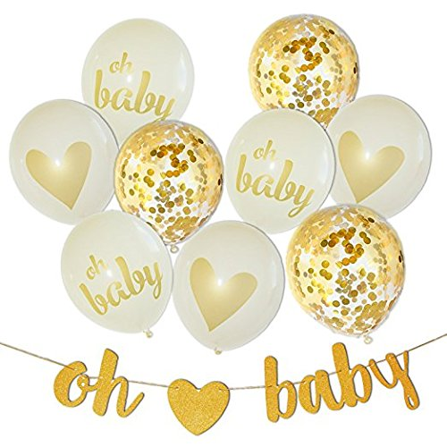 Baby Shower Decorations Neutral Decor Strung Banner Oh Baby