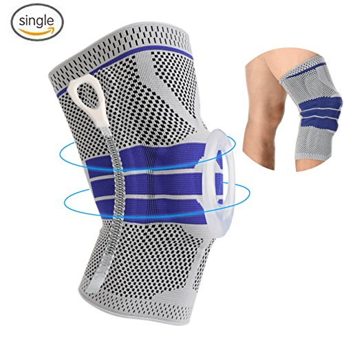 a5f04df756 Knee Support Brace Compression Sleeves, Elastic & Adjustable Kneepad  Silicon Padded Bracket/Patella Stabilizer/Warm Protector for Meniscus Tear  Arthritis ...