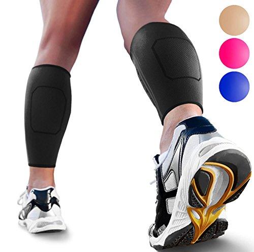 1b72a2204c Calf Compression Sleeves by SPARTHOS (Pair) – Leg Compression Socks for Men  and Women – Shin Splint Calf Pain Relief Calf Air Travel Flight Nurses  Maternity ...