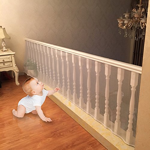 Child Safety Net U2013 10ft X2.5ft, Shavow Rail Balcony Banister Stair Net  Safety For Kids Toys Pets, Safe For Indoor, Outdoor, Patios Or Balcony Use