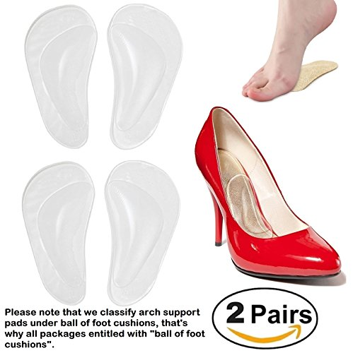 2165681af7 Arch Support Medical Insoles Gel Orthopedic Orthotic Insoles Foot pads Shoe  Insoles women shoe inserts for foot Pain Relief, 2 Pairs (4 Pieces) CLEAR+  CLEAR ...