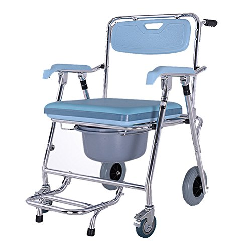Gfywz Elderly Wheelchair Commode Adult Mobile Toilet Seat