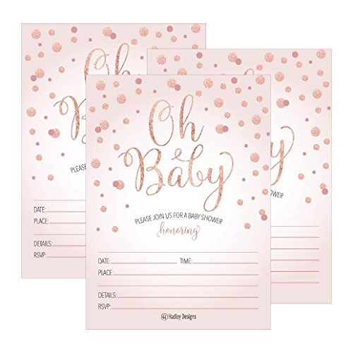 25 blush rose gold girl oh baby shower invitations cute princess 25 blush rose gold girl oh baby shower invitations cute princess printed fill or write in blank invite printable shabby chic unique custom vintage coed filmwisefo
