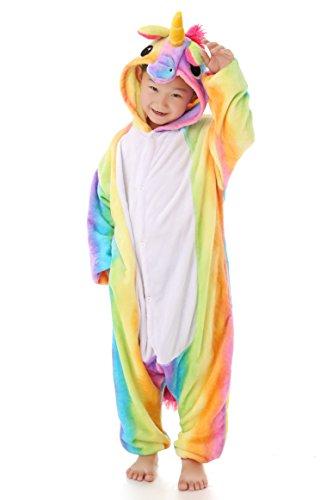 yutown kids unicorn costume animal onesie pajamas children halloween gift rainbow 100