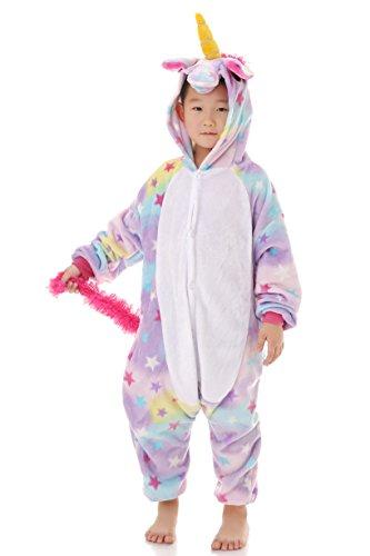 yutown kids unicorn costume animal onesie pajamas children halloween gift star 130