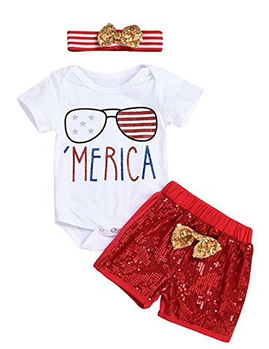4th of july toddler baby girls clothes merica american flag stripe