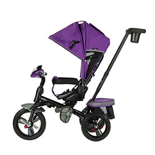Evezo 302a 4 In 1 Parent Push Tricycle For Kids Stroller