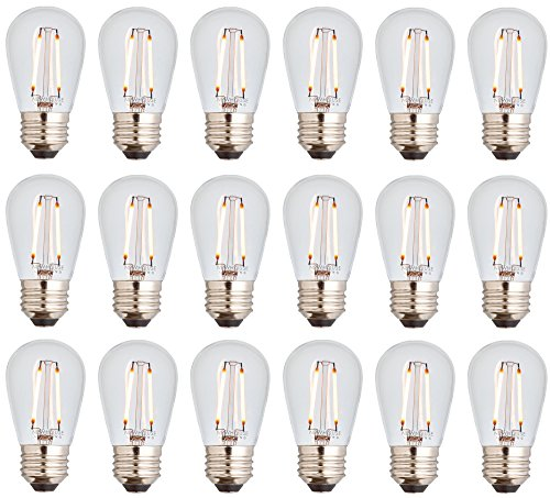 Newhouse Lighting 48 Foot Outdoor String Lights Led Bulbs: Newhouse Lighting Outdoor Weatherproof 2W S14 LED Filament