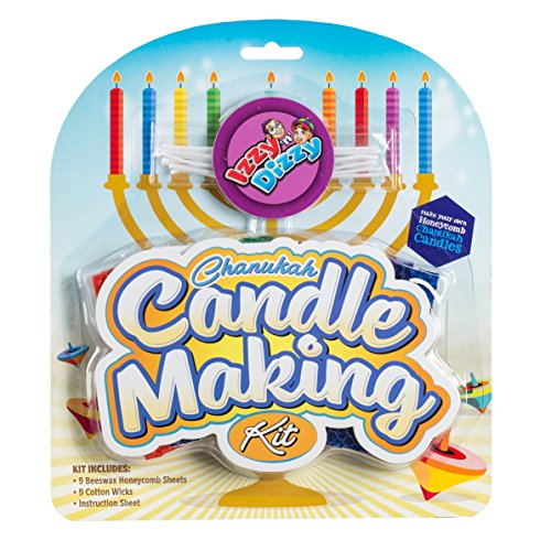 Chanukah Candle Making Kit Includes 9 Beeswax Honeycomb Sheets 9
