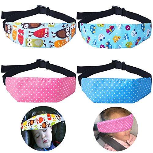 4 Pcs Toddler Car Seat Infants And Baby Head Support Neck Relief Strap Safety Stroller Adjustable Holder Sleep Belt