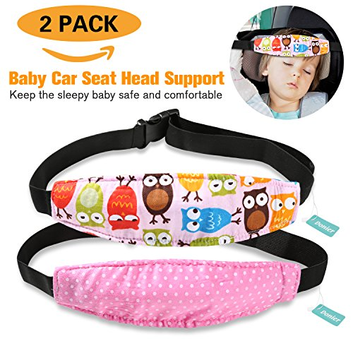 2 Packs Toddler Car Seat Neck Relief And Head Support Pillow Band Easy Installation On Most Convertible Seats Safety To Babies