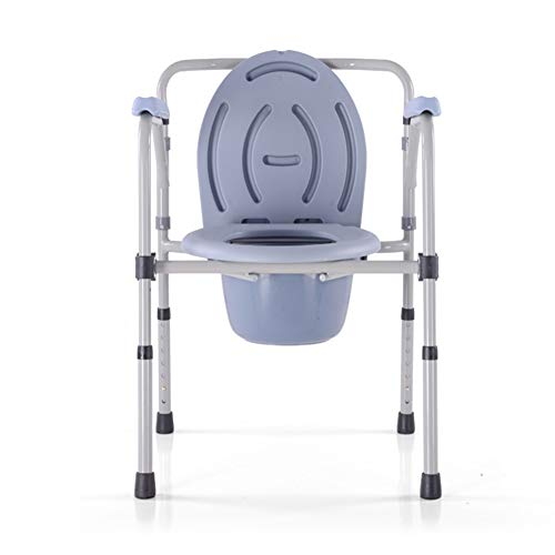 Commode Toilet Chair Heavy Duty Steel 350LBS, Medical Folding Supply ...