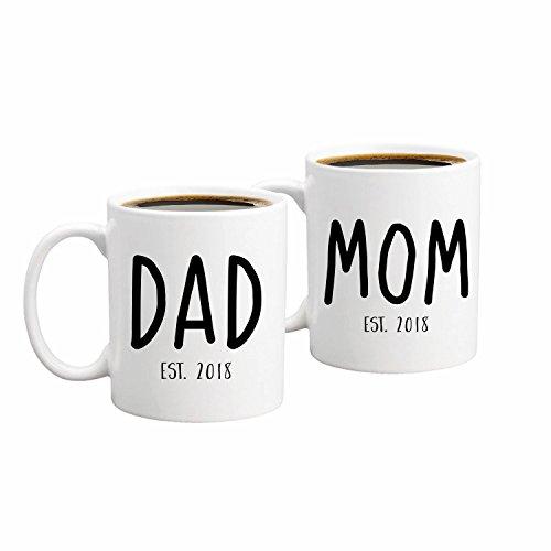New Parents Pregnancy 2018 Announcement Coffee Mug Set 11oz – Unique ...