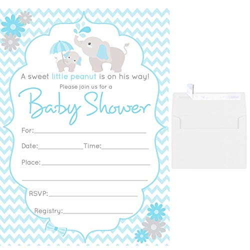 Fill In Blank Baby Shower Invitations