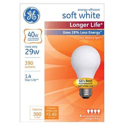 ge lighting 70287 soft white long life 29 watt 40 watt replacement