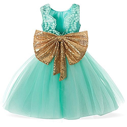 Party Backless Baby Girl Dress Kids Clothes Princess Dress Sequins Sparkle