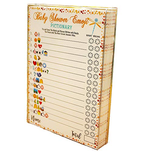 Baby Shower Games Emoji Pictionary Cards Fun Guessing Game For