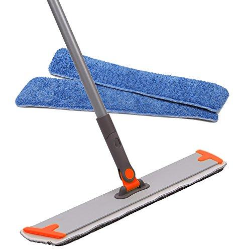 18 Professional Microfiber Mop 3 Reusable Flat Mop Pads And 1