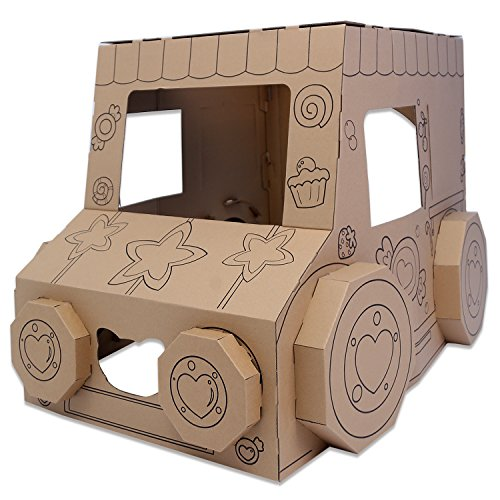 HollyHOME DIY Toy Car Indoor Paper Houses Cardboard Box Car ...