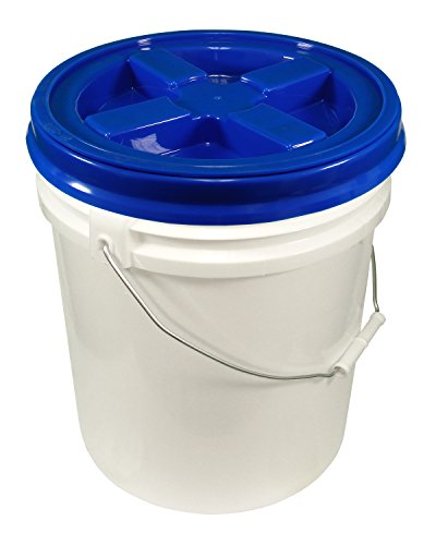 5 Gallon White Bucket & Gamma Seal Lid – Food Grade Plastic