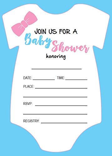 Baby Shower Invitations 25 Count Fill In Pink Blue Baby
