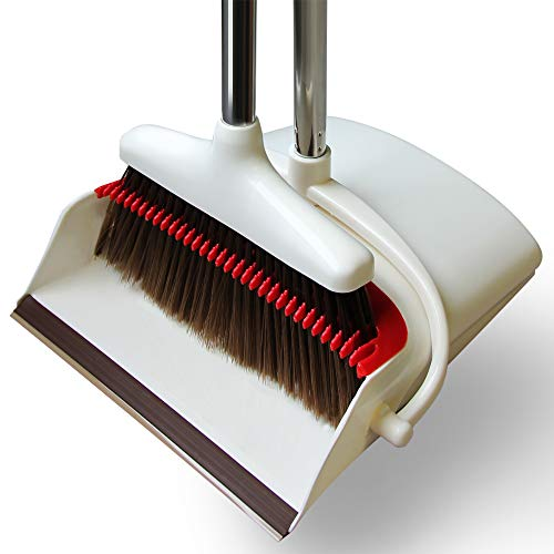 Adjustable Broom Dustpan set by Afan –Tooth Design Removes