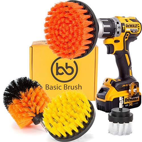 Basicbrush Drill Brush Attachment Kit Stiff Medium Soft Nylon