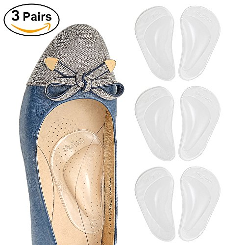 plantar Fasciitis Arch Support Insoles pair Shoe Cushion Gel Flat Foot Inserts