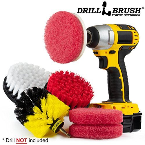 Drill Brush Power Scrubber Attachments Bathroom Kitchen Cleaning