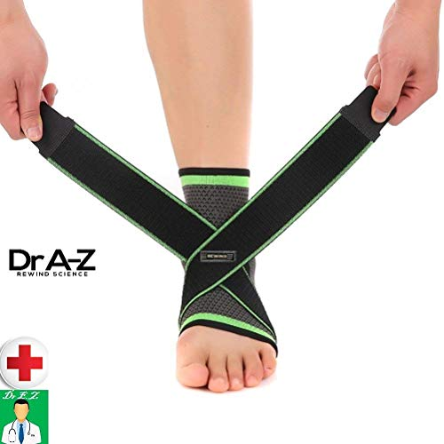 0f2e43b774 Dr A-Z Plantar Fasciitis Compression Sleeves Ankle Brace Support ...