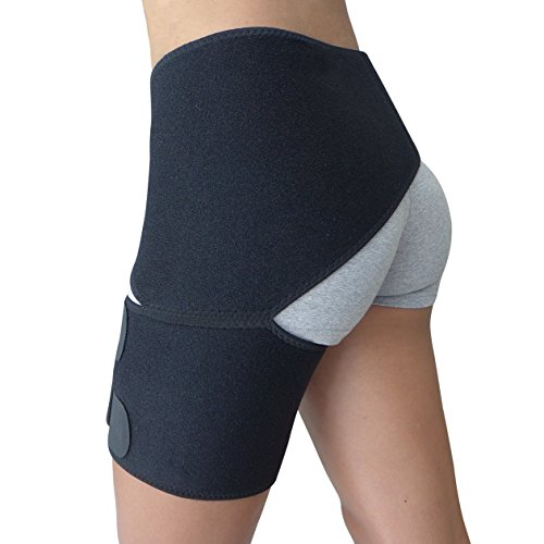 8e08b742a6 Hip Brace – Groin Support for Sciatica Pain Relief Thigh Hamstring  Quadriceps Hip Arthritis – Best Compression Groin Wrap for Pulled Muscles  Hip Flexor ...