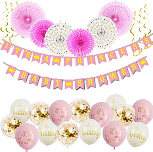 Its A Princess Baby Shower Decorations For Girl 55 Piece Girls