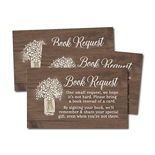 25 Rustic Books For Baby Request Insert Card Boy Or Girl