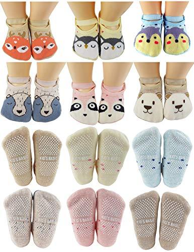 Toddler Baby Socks Anti Slip Non Skid Cotton Walking Socks Toddler Prewalker New