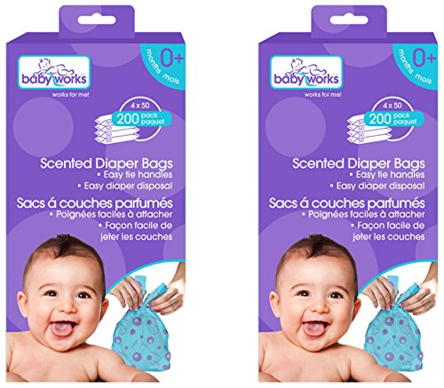 Baby Works Disposable Scented Diaper Bags Value 400pk 2