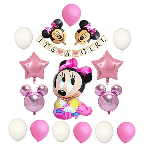 Minnie Mouse Baby Shower Decorations For Girl Pink Party Decorations
