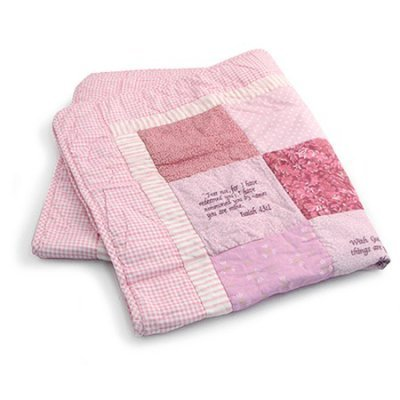 Bible Verse Baby Quilt Beautiful Cotton Blanket Embroidered With