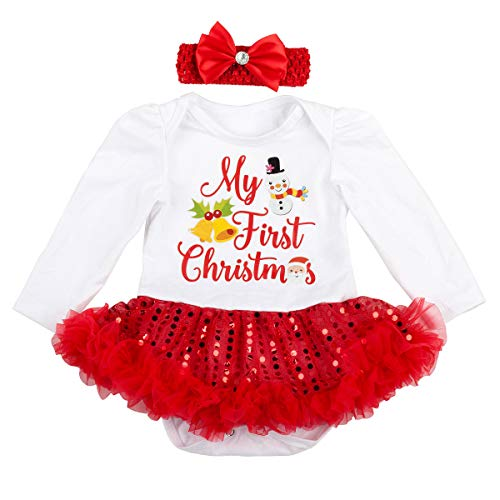 9f6463f43 Slowera Baby Girls Christmas Outfits Clothes (L:9-12Months, Snowman ...