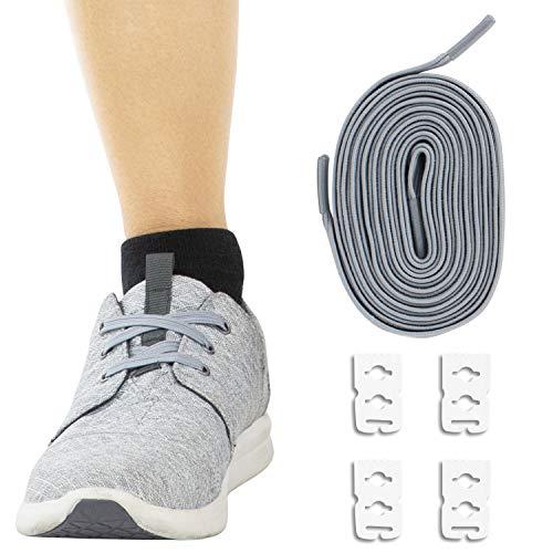 Vive Elastic Shoe Laces (Gray) – No Tie