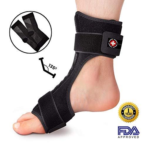 50248f8a09 FirstCare Plantar Fasciitis Night Splint & Compression Socks 2-in-1 ...