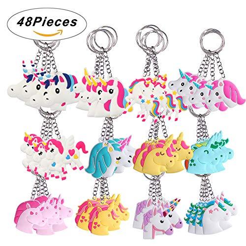 Unicorn Design PVC Keyring key chain Key Holder Party Bag Fillers Gift