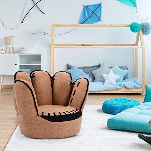Costzon Kids Sofa Chair Baseball Glove Shaped Fingers Style