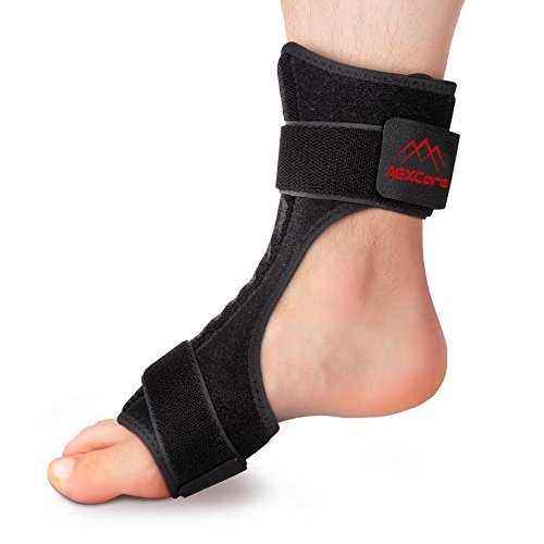 7458bf62f6 Plantar Fasciitis Night Splint & Support: Drop Foot and Heel Pain Relief –  Ankle Brace/Stretcher Supports Arch, Adjustable Splints for Achilles Tendon  ...