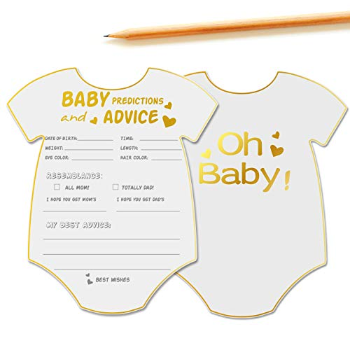 50 Advice And Prediction Cards For Baby Shower Game Gender Neutral